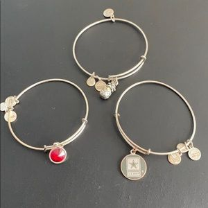 Alex and Ani -three bracelets